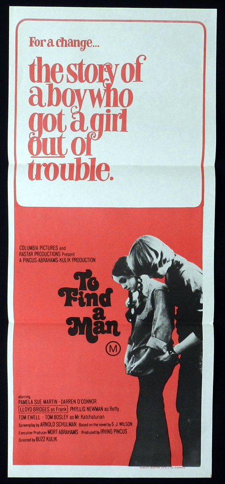 TO FIND A MAN Pamela Sue Martin Lloyd Bridges RARE Daybill Movie poster