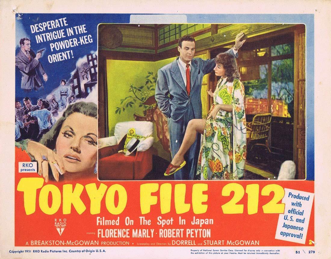 TOKYO FILE 212 1951 RKO Film Noir RARE Lobby Card 2