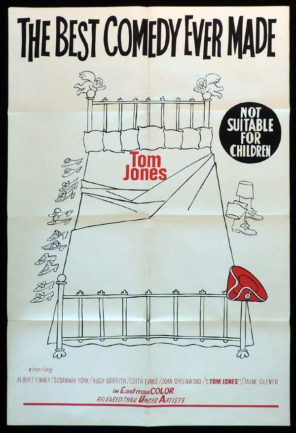 TOM JONES One Sheet Movie Poster Albert Finney Diane Cilento