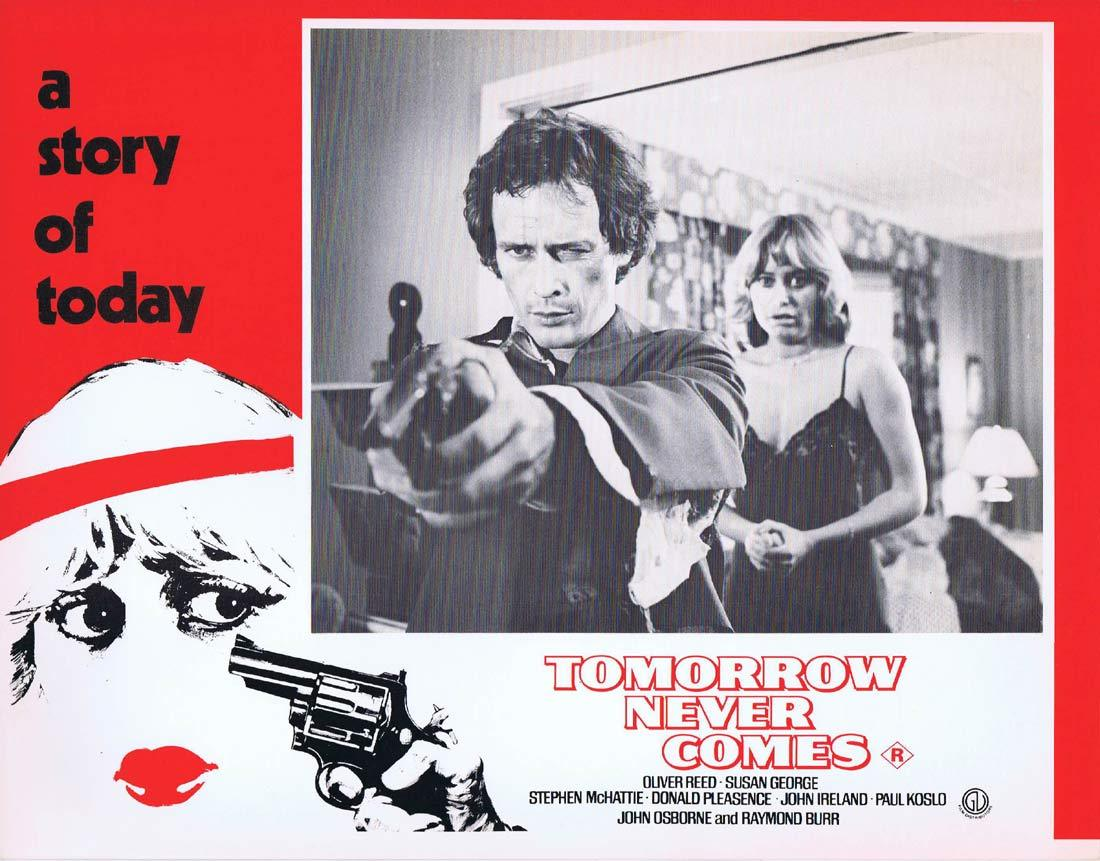 TOMORROW NEVER COMES Original Lobby Card 3 Susan George Oliver Reed