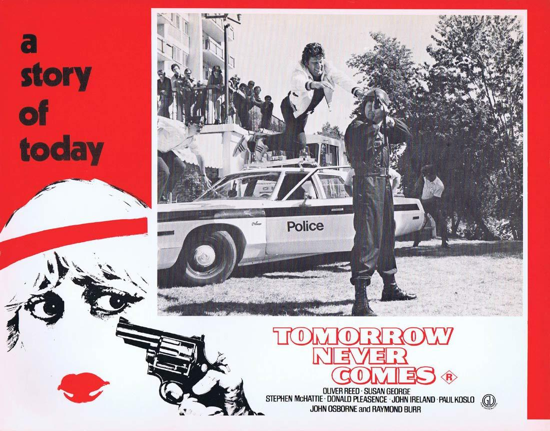 TOMORROW NEVER COMES Original Lobby Card 5 Susan George Oliver Reed