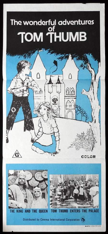 TOM THUMB Original Daybill Movie poster 1960s Cinema International