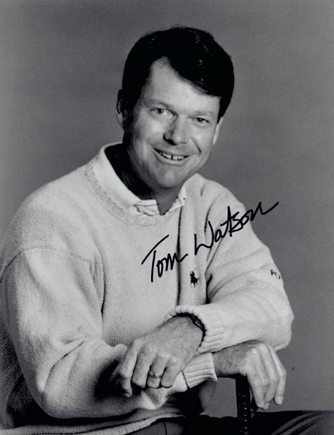 TOM WATSON Autograph 8 x 10 Photo Golf