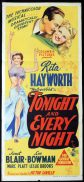 TONIGHT AND EVERY NIGHT Original Daybill Movie Poster RITA HAYWORTH