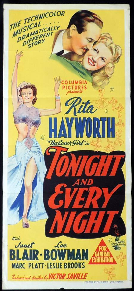 TONIGHT AND EVERY NIGHT Original Daybill Movie Poster RITA HAYWORTH