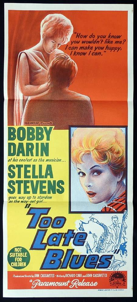 TOO LATE BLUES Original Daybill Movie Poster Bobby Darin Stella Stevens