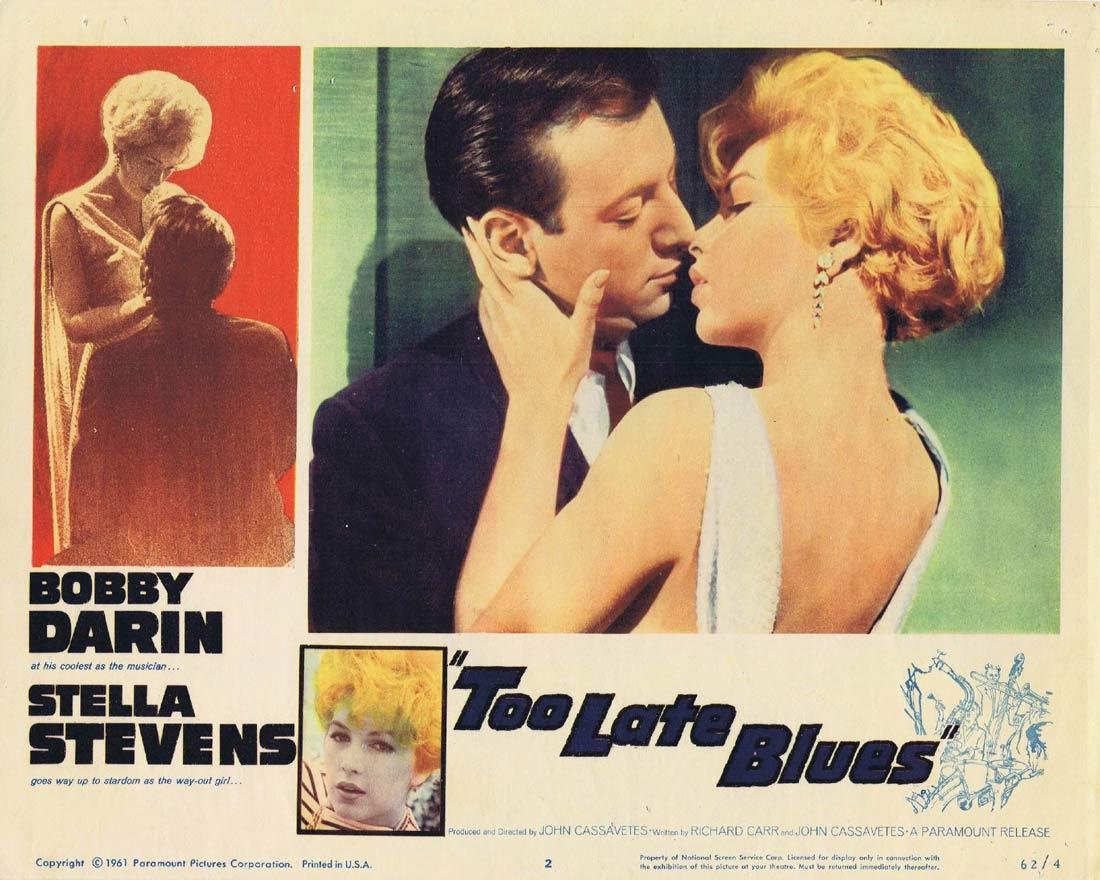 TOO LATE BLUES Vintage Lobby Card 2 Bobby Darin Stella Stevens Everett Chambers