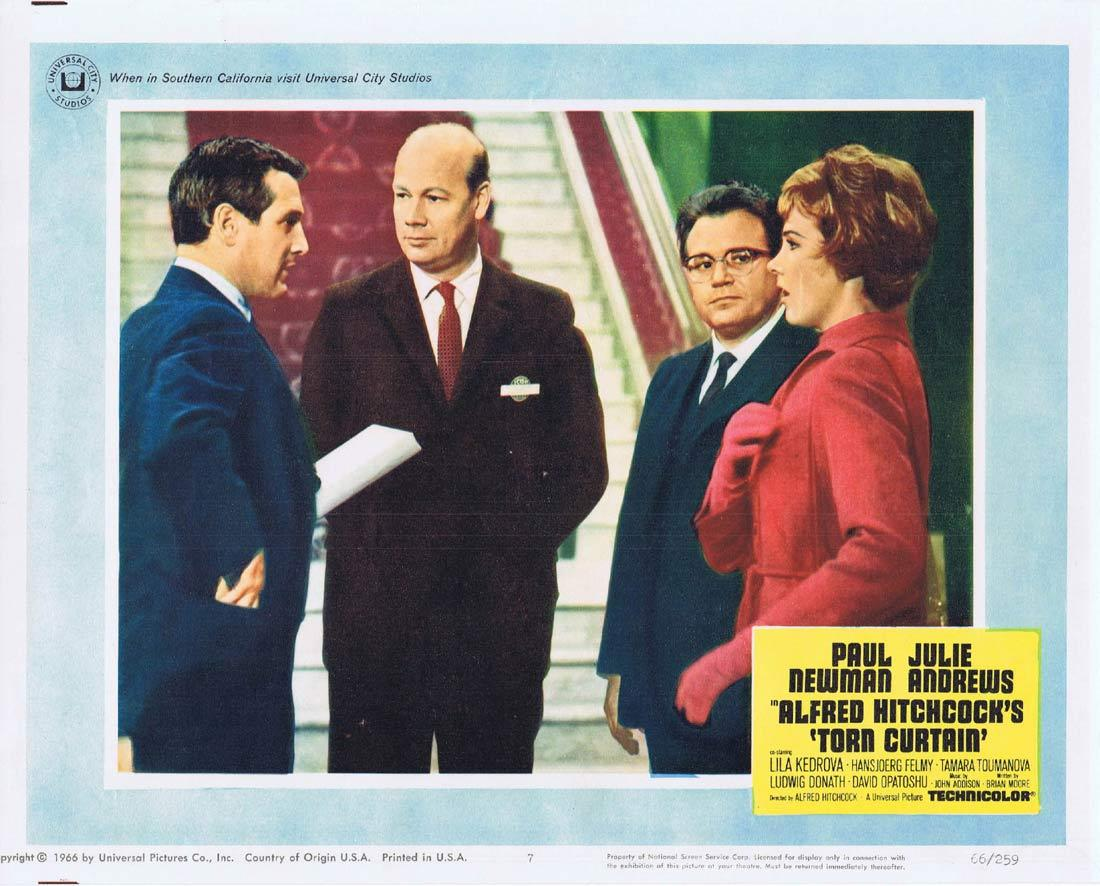 TORN CURTAIN Lobby card 7 Alfred Hitchcock Paul Newman Julie Andrews