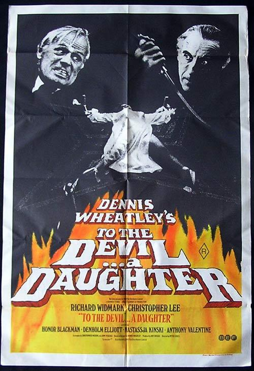 TO THE DEVIL A DAUGHTER Hammer Horror Original One sheet Movie poster Christopher Lee