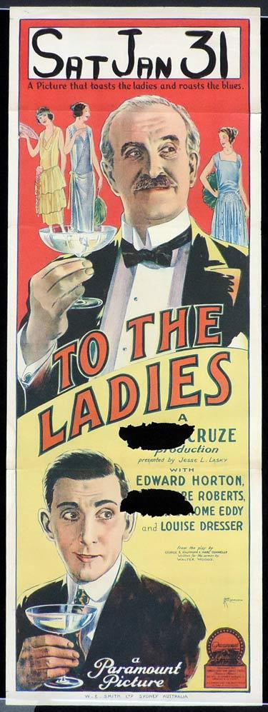 TO THE LADIES Long Daybill Movie poster 1923 JOHN RICHARDSON signature