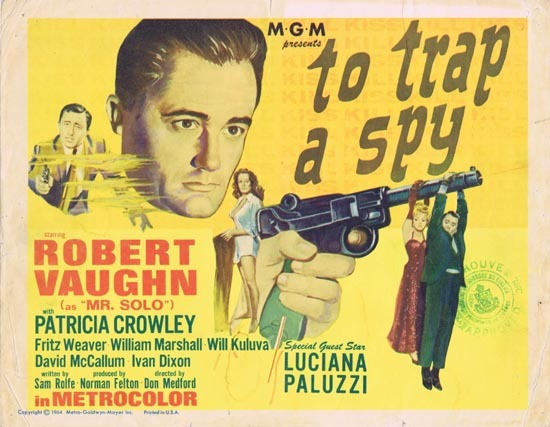 TO TRAP A SPY Title Lobby Card 1964 Man From Uncle