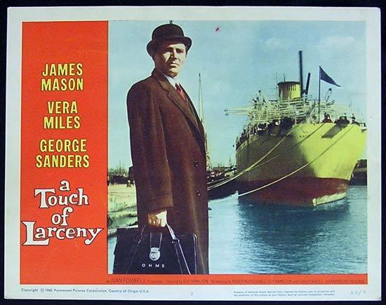 A TOUCH OF LARCENY 1960 James Mason Lobby Card 2