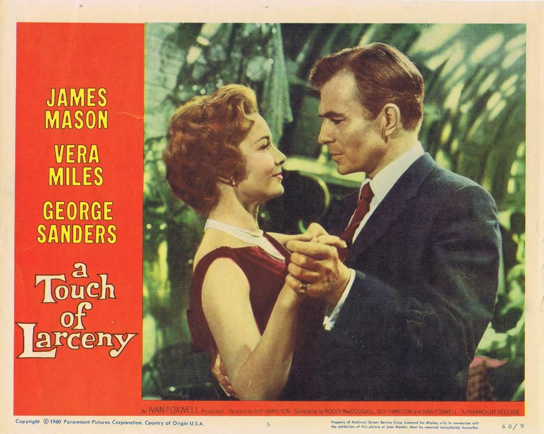 A TOUCH OF LARCENY Lobby Card 5 James Mason George Sanders Vera Miles