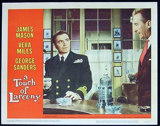 A TOUCH OF LARCENY 1960 James Mason Lobby Card 6