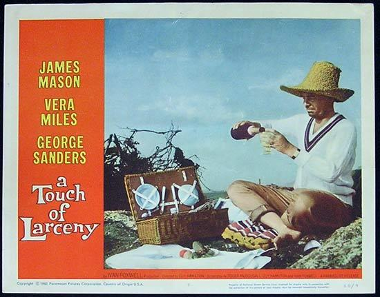 A TOUCH OF LARCENY 1960 James Mason Lobby Card 7