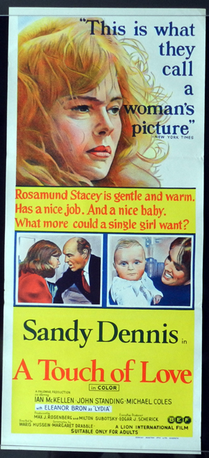 A TOUCH OF LOVE Daybill Movie poster Sandy Dennis
