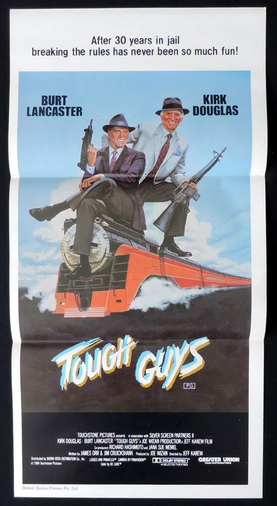 TOUGH GUYS Original Daybill Movie Poster Burt Lancaster Kirk Douglas