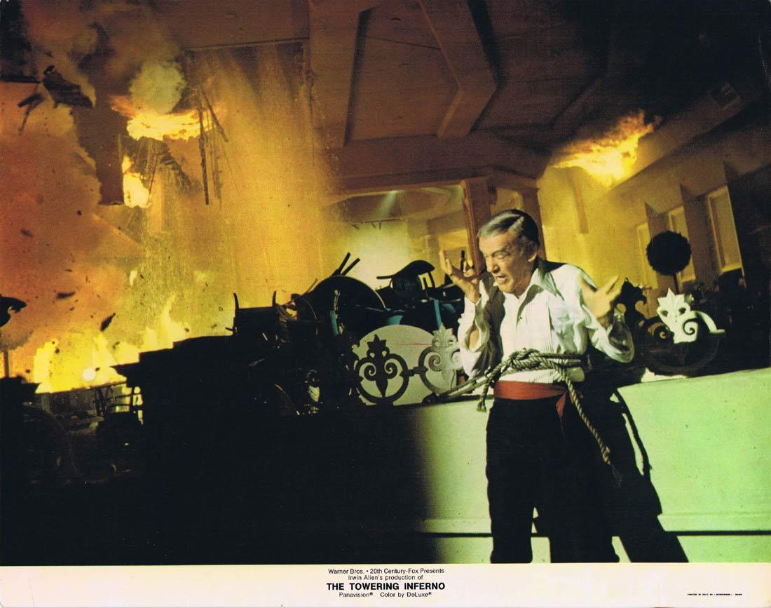 THE TOWERING INFERNO Original Lobby Card 2 Steve McQueen Paul Newman William Holden