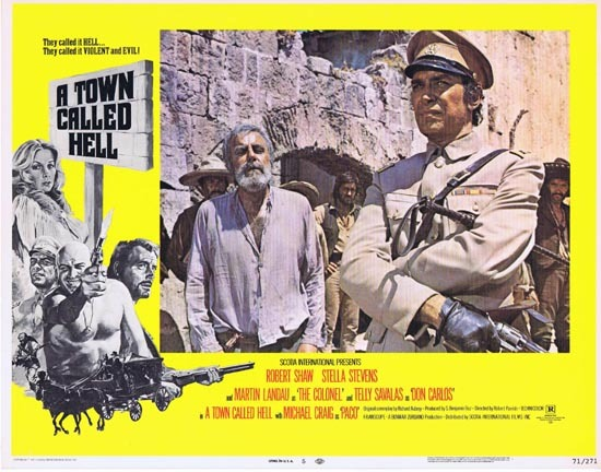 A TOWN CALLED HELL 1971 Robert Shaw Lobby card 5