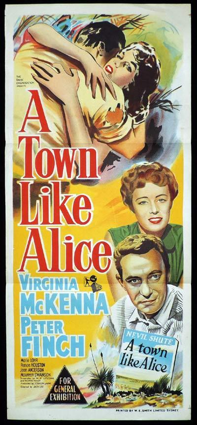 A TOWN LIKE ALICE Daybill Movie poster PETER FINCH Virginia McKenna