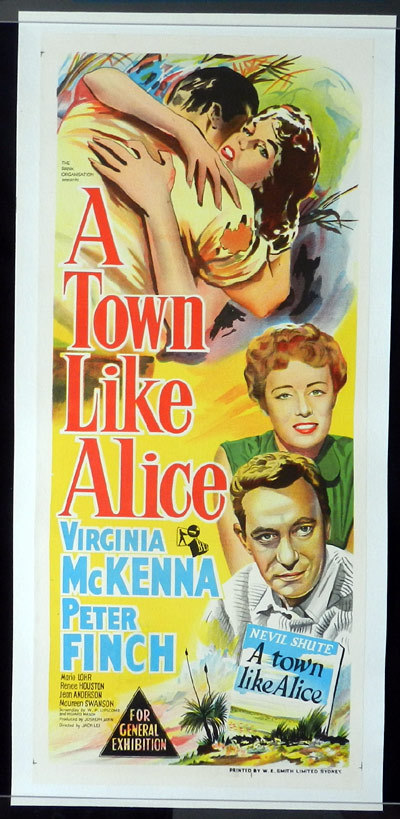 A TOWN LIKE ALICE Original Daybill Movie poster 1956 Linen Backed