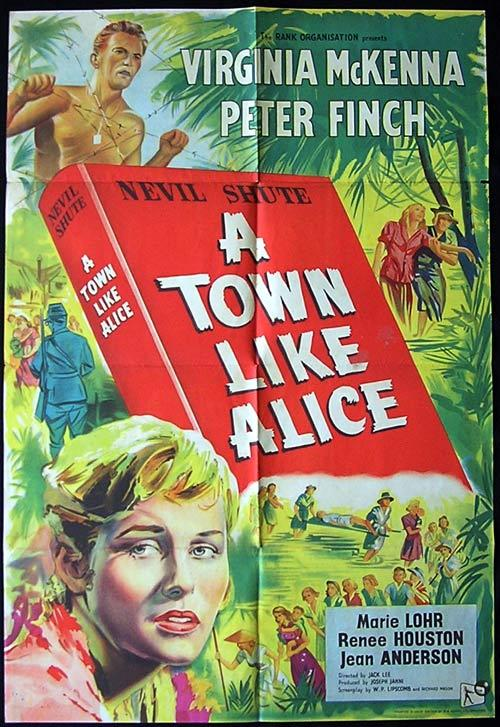 A TOWN LIKE ALICE Movie poster 1956 Classic AUSTRALIAN FILM Rare British One Sheet