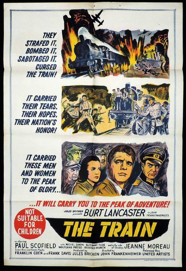 the train one sheet movie poster burt lancaster
