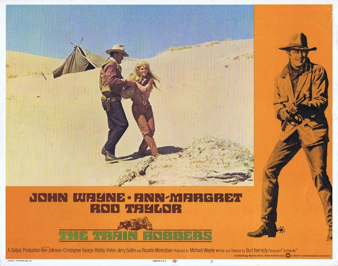 THE TRAIN ROBBERS Original Lobby Card 7 John Wayne Ann-Margret
