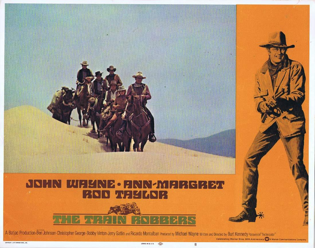 THE TRAIN ROBBERS Original Lobby Card 8 John Wayne Ann-Margret