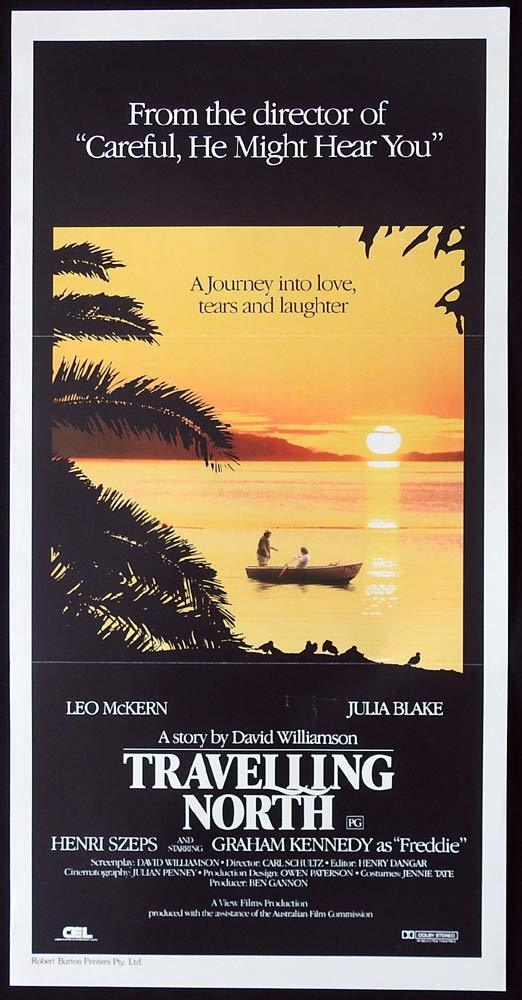 TRAVELLING NORTH Original Daybill Movie poster Graham Kennedy Leo McKern