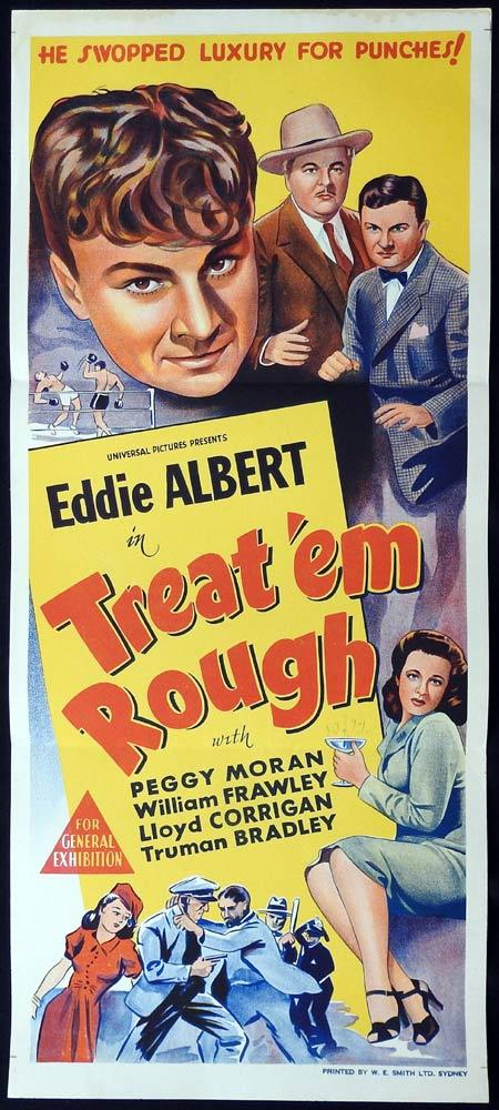 TREAT EM ROUGH Original Daybill Movie Poster Eddie Albert Peggy Moran William Frawley