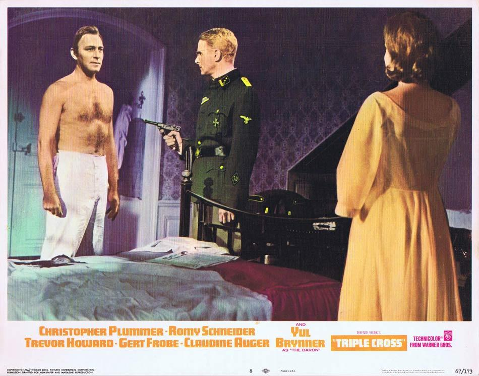 TRIPLE CROSS Lobby Card 8Christopher Plummer Romy Schneider Trevor Howard