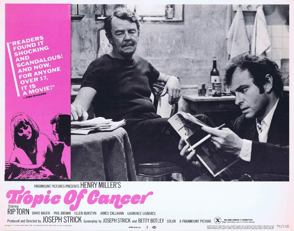 TROPIC OF CANCER Lobby Card 2 Rip Torn James T. Callahan David Baur