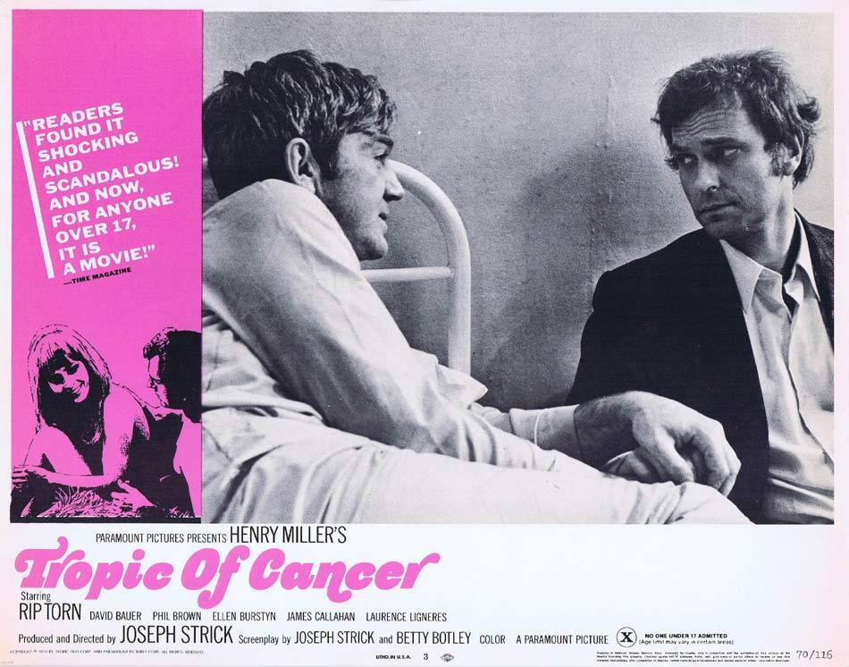 TROPIC OF CANCER Lobby Card 3 Rip Torn James T. Callahan David Baur