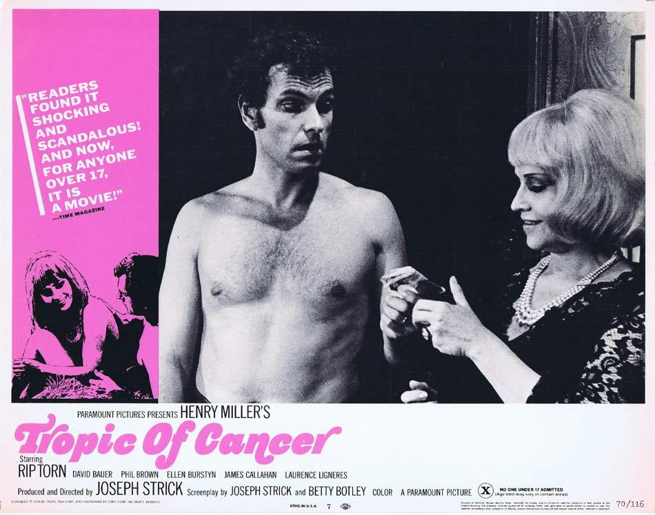 TROPIC OF CANCER Lobby Card 7 Rip Torn James T. Callahan David Baur