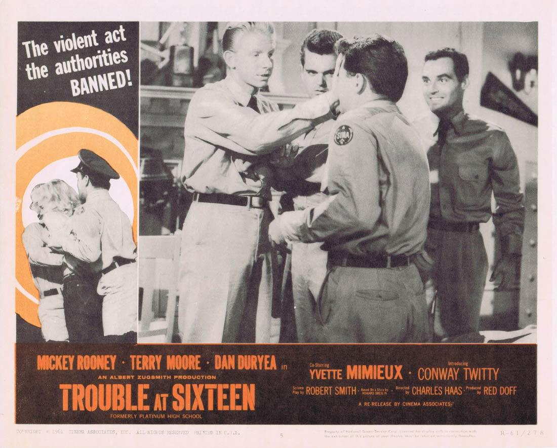 TROUBLE AT SIXTEEN Lobby Card 5 Mickey Rooney Terry Moore Yvette Mimieux 1961r