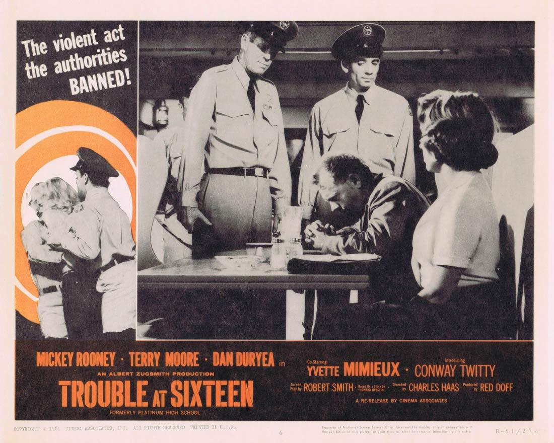 TROUBLE AT SIXTEEN Lobby Card 6  Mickey Rooney Terry Moore Yvette Mimieux 1961r