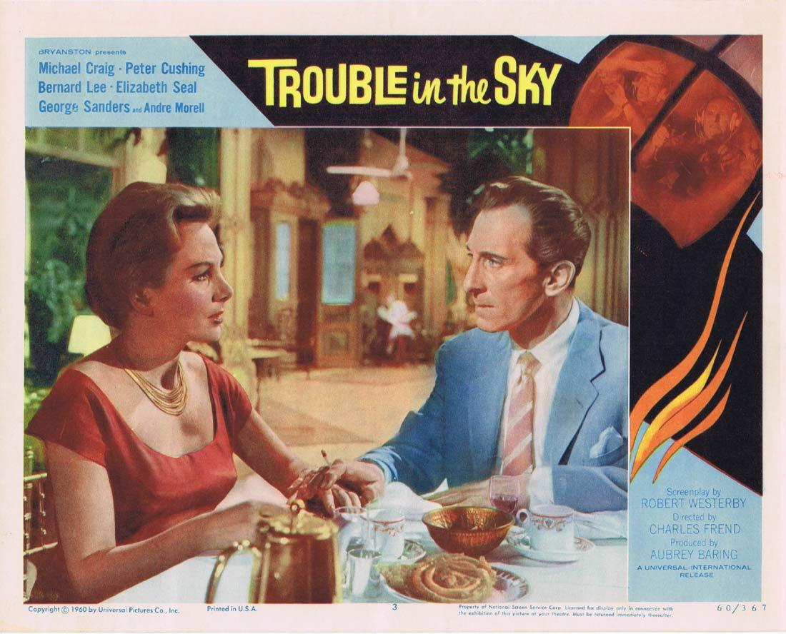 TROUBLE IN THE SKY Lobby Card 3 Michael Craig Peter Cushing Bernard Lee