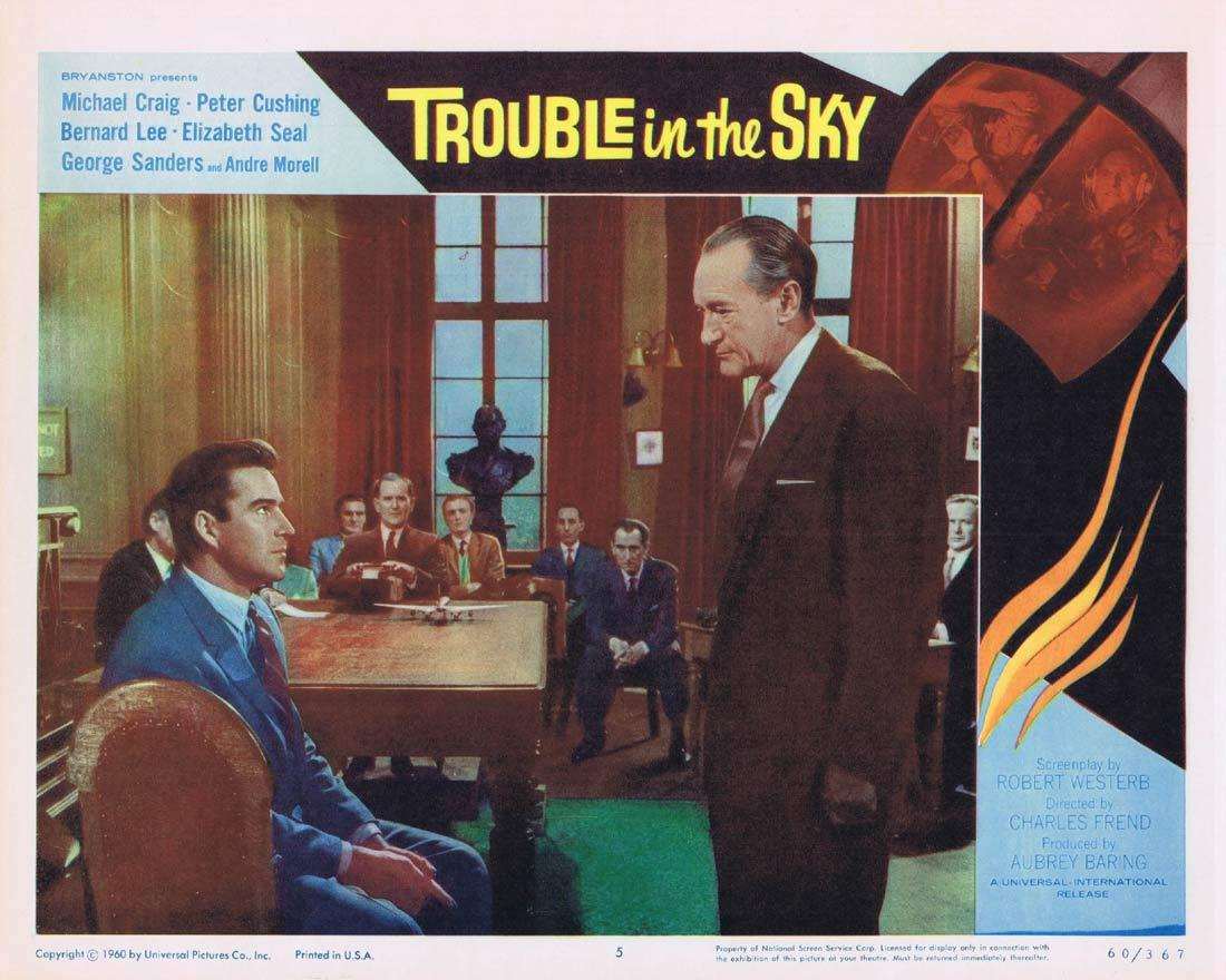 TROUBLE IN THE SKY Lobby Card 5 Michael Craig Peter Cushing Bernard Lee