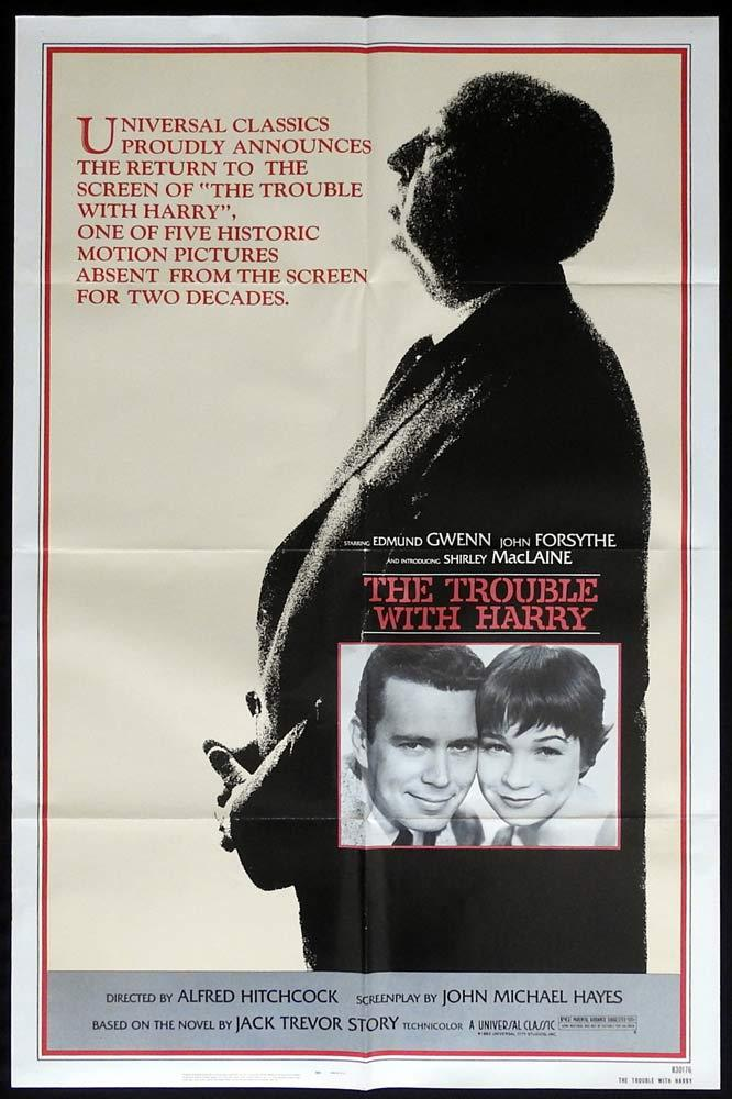THE TROUBLE WITH HARRY Original 1983r  US One sheet Movie poste Alfred Hitchcockr