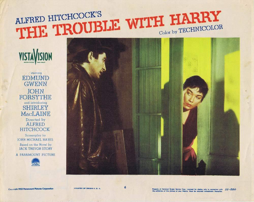 THE TROUBLE WITH HARRY Lobby Card 6 Alfred Hitchcock Shirley MacLaine