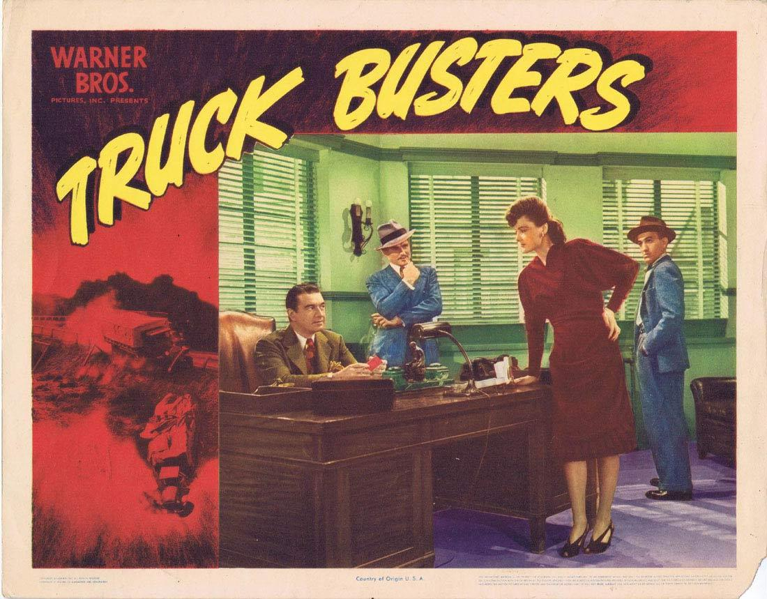 TRUCK BUSTERS Lobby card 6 Film Noir Trucking