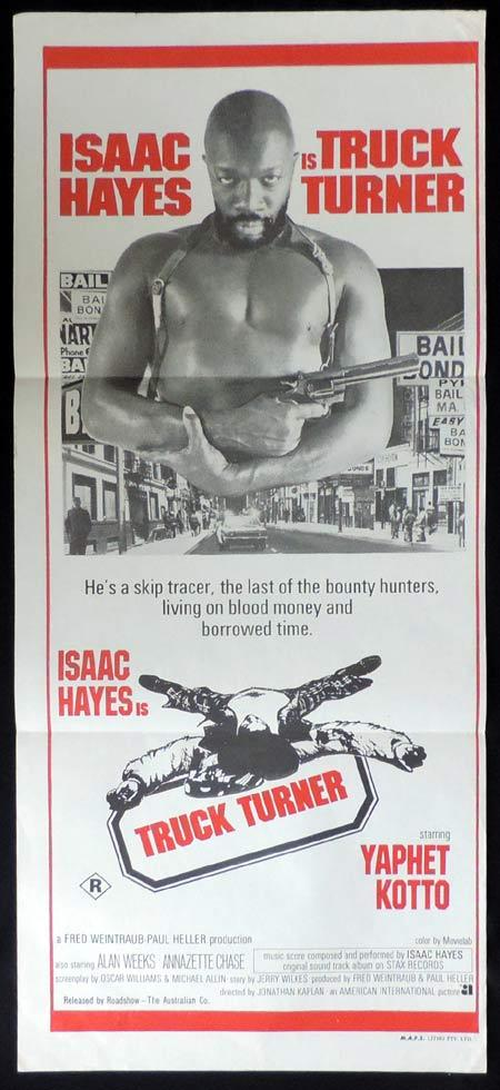 TRUCK TURNER Original Daybill Movie Poster Blaxploitation Isaac Hayes