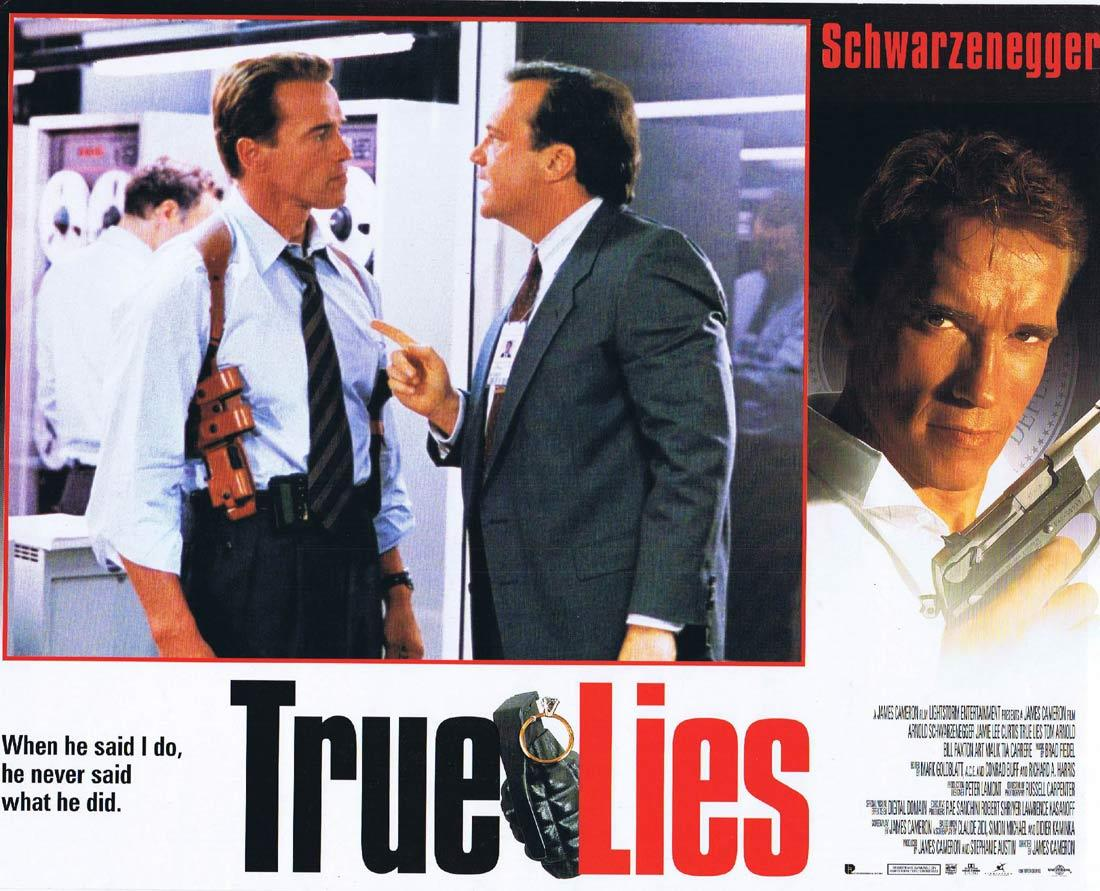 TRUE LIES Lobby Card Arnold Schwarzenegger Tom Arnold