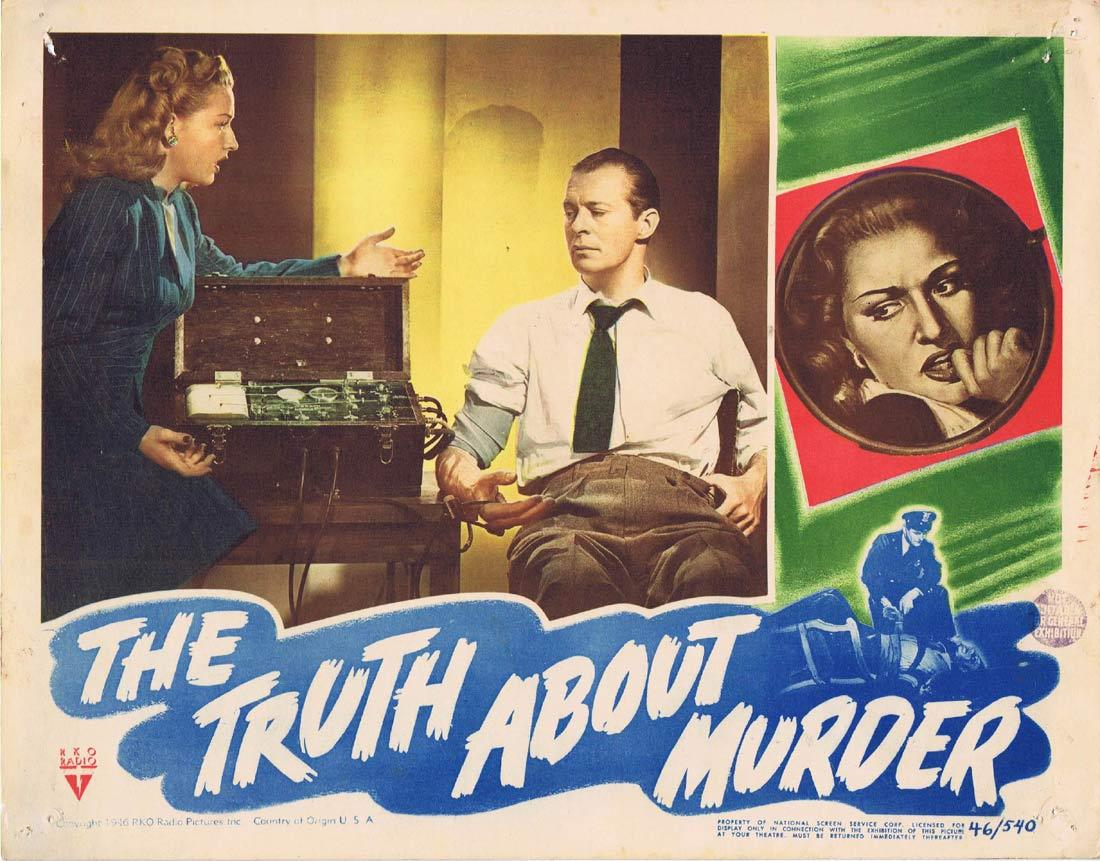 THE TRUTH ABOUT MURDER Lobby Card 5 RKO Film Noir Bonita Granville Morgan Conway