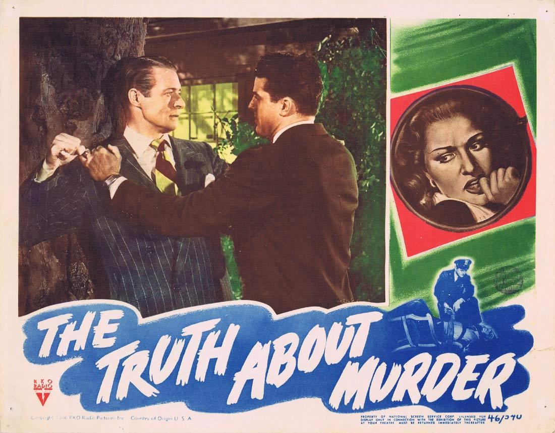THE TRUTH ABOUT MURDER Lobby Card 6 RKO Film Noir Bonita Granville Morgan Conway