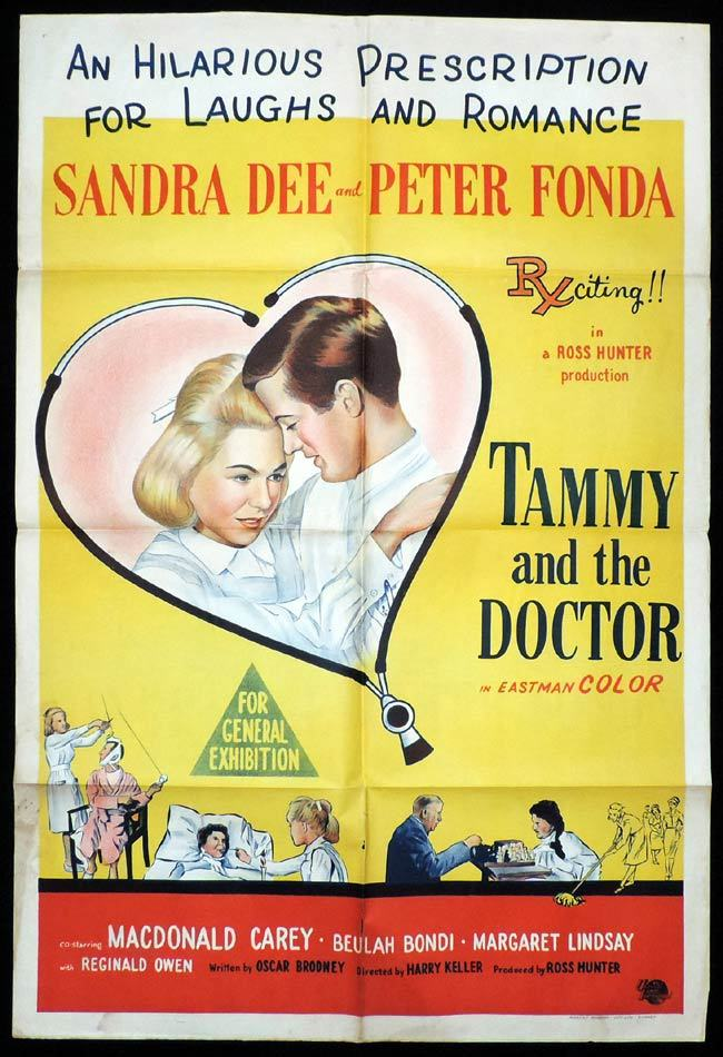 TAMMY AND THE DOCTOR One Sheet Movie Poster Dandra Dee Peter Fonda