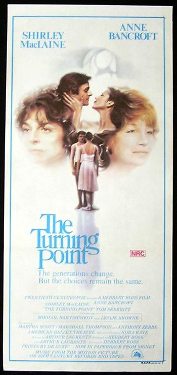 THE TURNING POINT Daybill Movie Poster Shirley MacLaine Anne Bancroft Ballet