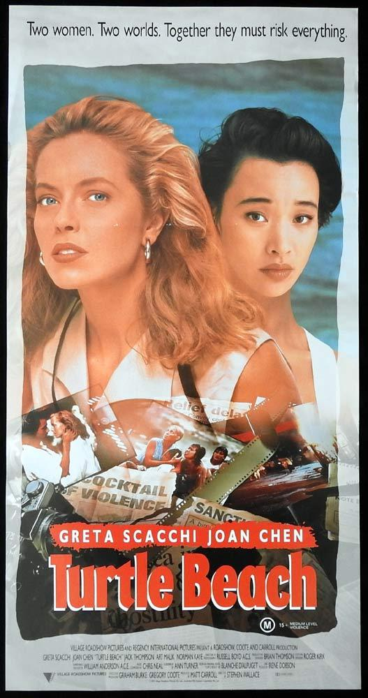 TURTLE BEACH Original Daybill Movie Poster Greta Scacchi