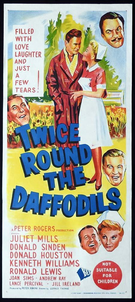 TWICE ROUND THE DAFFODILS Original Daybill Movie Poster Juliet Mills Donald Sinden